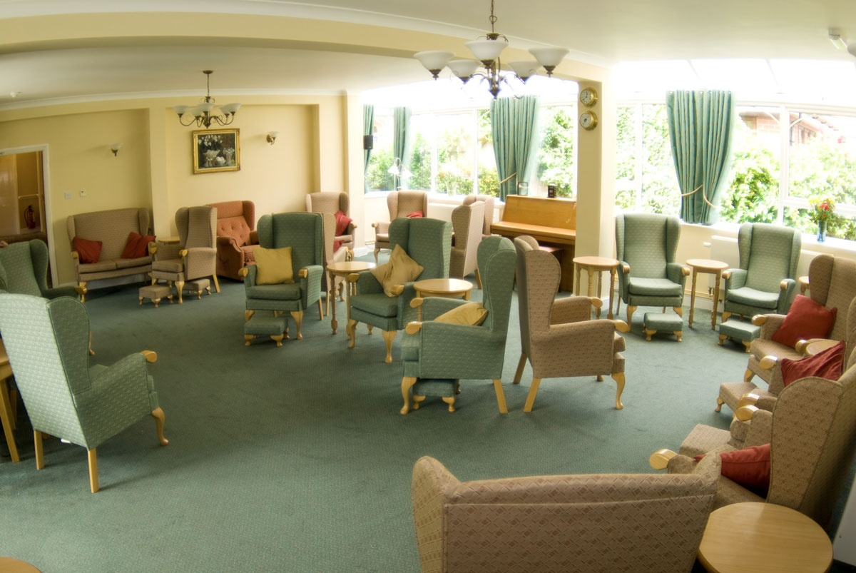 White Gables Suffolk Felixstowe care home lounge residential